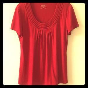 Dress Barn:  bright red top size L